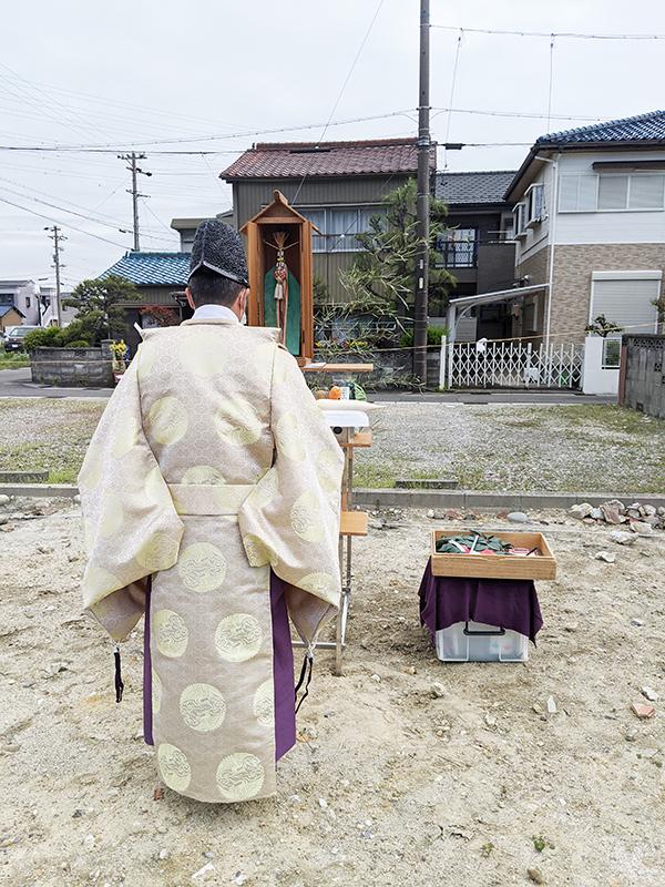 七宝町にて地鎮祭